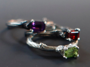 Spring Twig Solitaire Engagement Rings